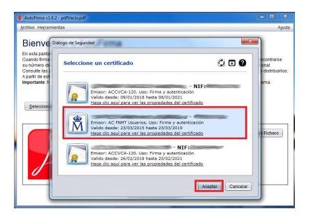 4-Elegir certificado electronico