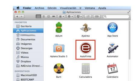abrir autofirma mac