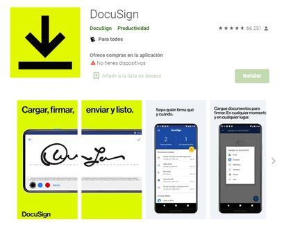Ilustración 2 - App DocuSign