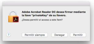 Paso 5 firmar pdf con certificado digital en MAC