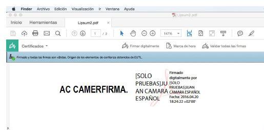 Paso 6 firmar pdf con certificado digital en MAC