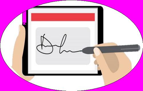 con firma digitalizada