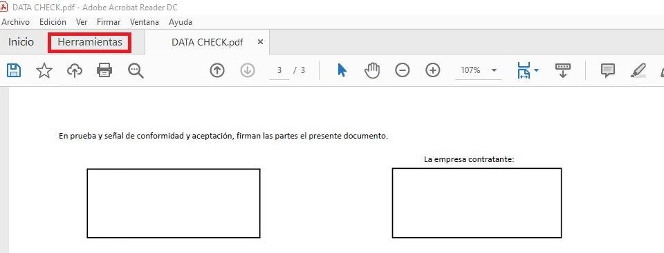 herramientas pdf adobe reader firma